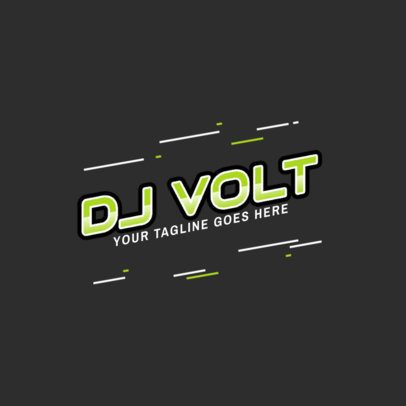 Cool DJ Logo Maker with a Simple Style 2351c