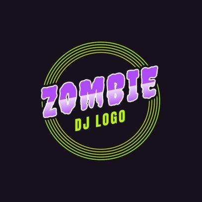 DJ Logo Template with a Zombie Theme 2351h