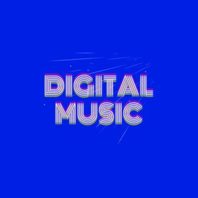 Cool Logo Maker for a Disc Jockey with a Glitched Design 2350e