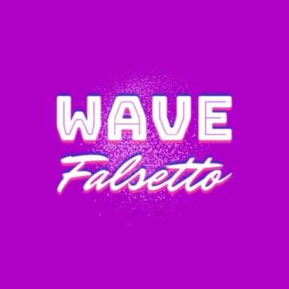 Logo Template for a DJ with a Synthwave Design 2350g