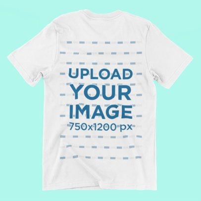 T-Shirt Mockup Laid Over a Solid Background 167-el
