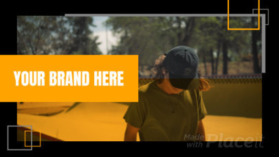 Introductory Facebook Cover Video Maker for a Brand 1542a-1458