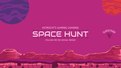 Cool YouTube Banner Generator with Retro Space Game Graphics 1673c