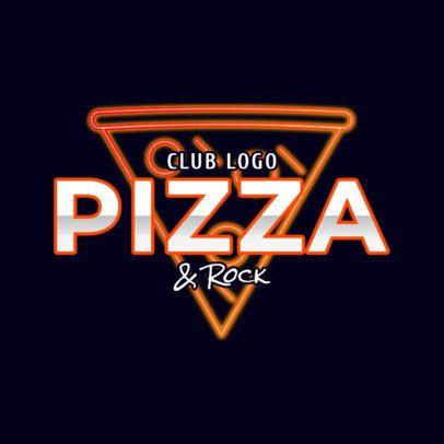 Fun Nightclub Logo Maker with a Neon Pizza Icon 2416f
