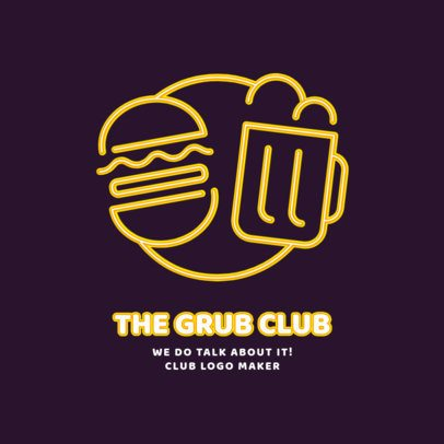 Nightclub Logo Maker for a Beer and Snacks Bar 2414c