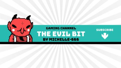 Gaming Channel YouTube Banner Maker Featuring Retro Pixel Characters 1704