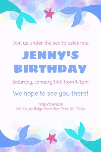 Siren-Themed Invitation Maker for a Birthday Party 1685e