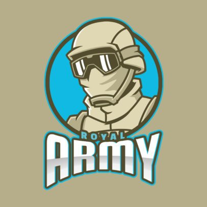 Gaming Logo Maker with a Covert Soldier Illustration 2449y