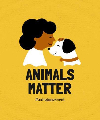 Animal Protection Tshirt Template 7b