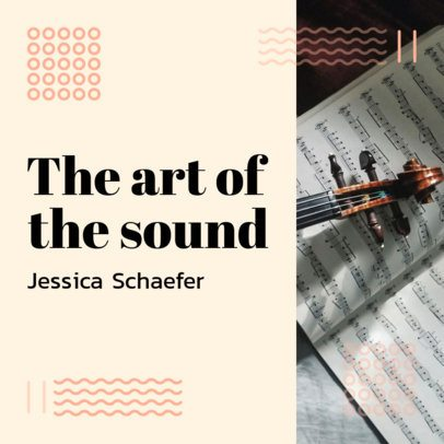 Music Theory Podcast Cover Generator with a Minimal Style 1721h
