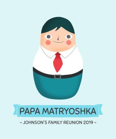 Cartoon-Style T-Shirt Design Maker for a Family Reunion 1715d