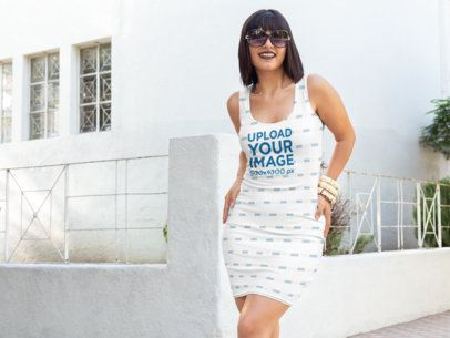 Mockup of a Woman Wearing a Racerback Dress 28819