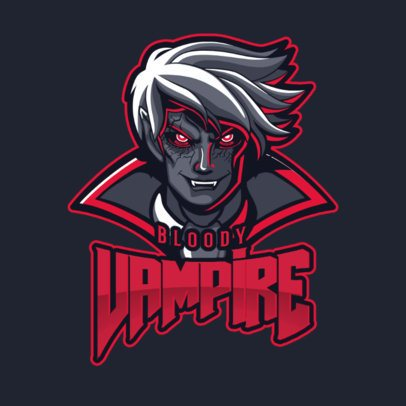 Gaming Logo Template Featuring a Bloody Vampire Illustration Inspired in Mobile Legends 2455n