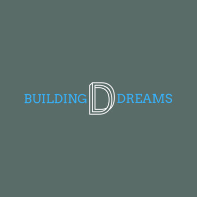 Architecture Logo Template with a Tridimensional Letter Graphic 1283f 2472