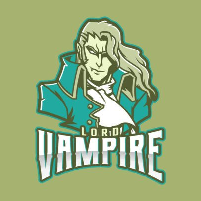 Gaming Logo Creator with an Elegant Vampire Character Inspired by Mobile Legends 2455y