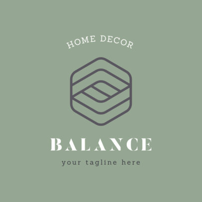 Home Decor Logo Maker with an Abstract Geometric Icon 1325h-2476