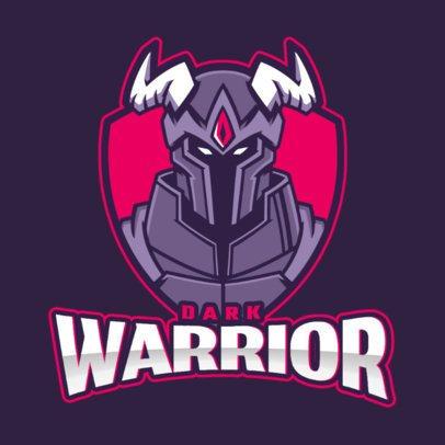 Logo Maker Featuring a Warrior with Horns 2499dd