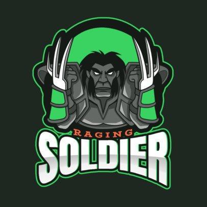 Logo Generator Inspired in DOTA 2 Featuring a Fierce Soldier 2499gg