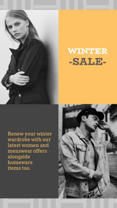 Winter Sale Instagram Story Template 967a--1762