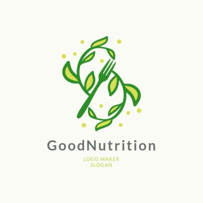 Nutritionist Logo Maker with Healthy Food Clipart 2536