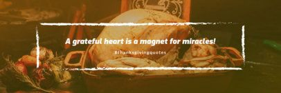 Twitter Header Template with a Thanksgiving Quote 1094h-1769