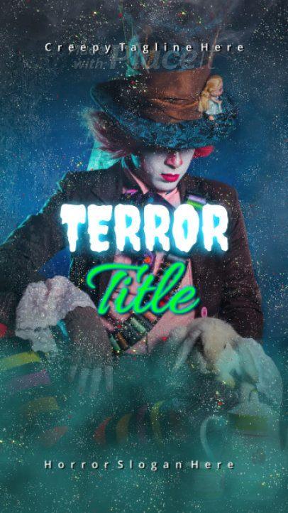 Halloween Instagram Story Template Inspired in Alice in Wonderland 1863