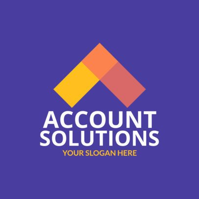 Account Solutions Logo Maker Featuring Geometric Shapes 1519b 2537