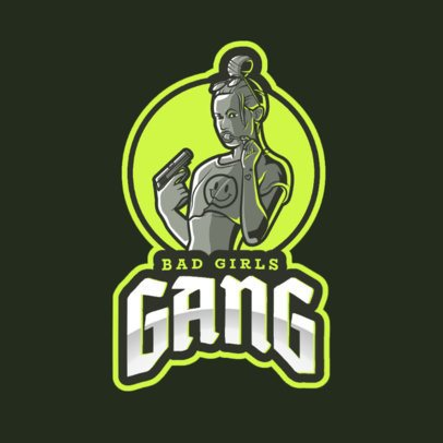 Gaming Logo Template with a GTA Style Character Design 2507m