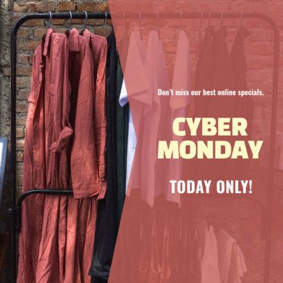 Ad Banner Maker for a Cyber Monday Coupon Code 542h-1796