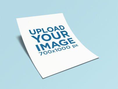 Letterhead Mockup of a Paper Foil Lying on a Plain Color Surface 347-el1