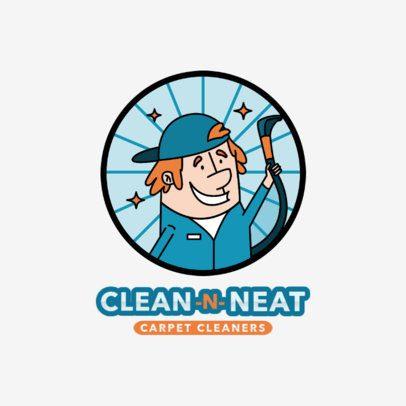 Cartoonish Logo Maker for a Carpet Cleaning Company 2550