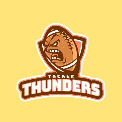 Sports Logo Template Featuring an Aggressive Football Ball Graphic 245x 2557