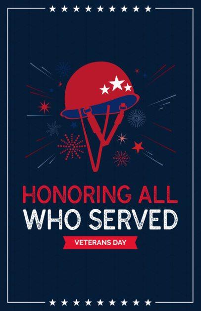 Flyer Template Honoring Veterans Day 153i 1805