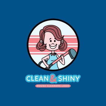 Logo Template for a Carpet  Cleaning Service with a Female Character 2550e