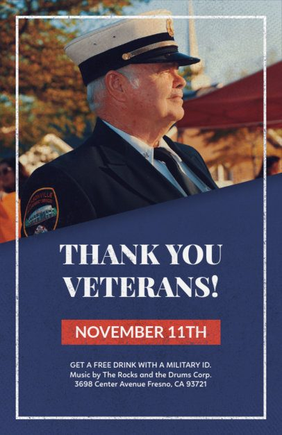 Flyer Generator for a Veterans Day Celebration 1803a