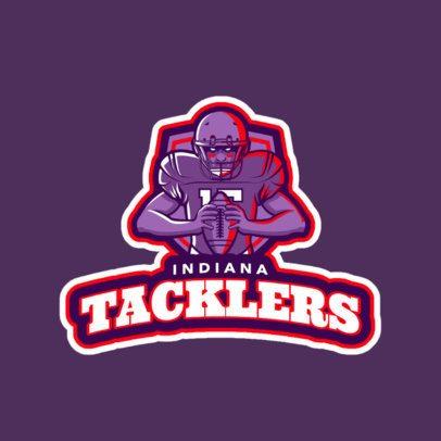 Sports Team Logo Generator Featuring Football Player Illustration 245t-2561