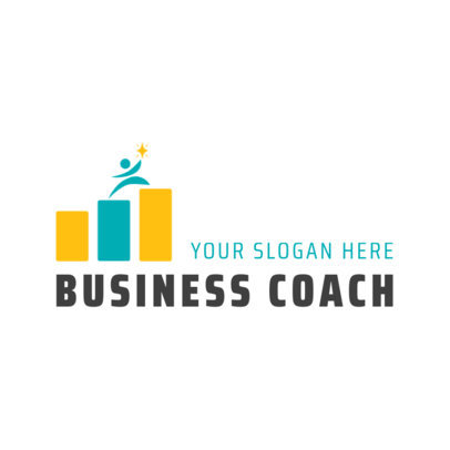 Minimalist Logo Template for a Business Coach 2552a