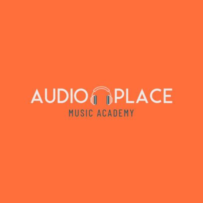 Music Academy Logo Generator with a Simple Style 1291f-12-el