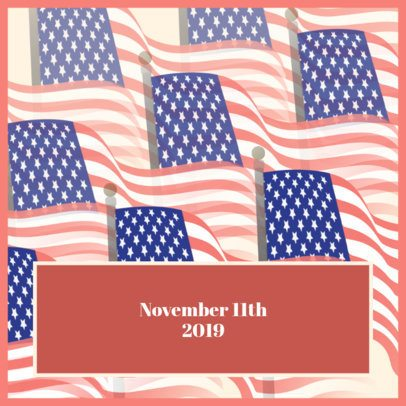 Commemorative Instagram Post Maker for Veteran's Day 1802d