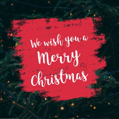 Instagram Post Maker Featuring a Merry Christmas Message 1103g 1833