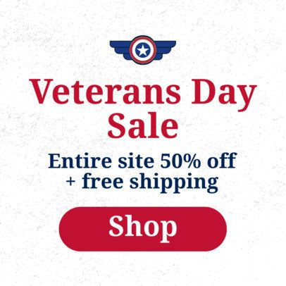 Online Banner Maker for Sales with a Veterans Day Theme 1806d