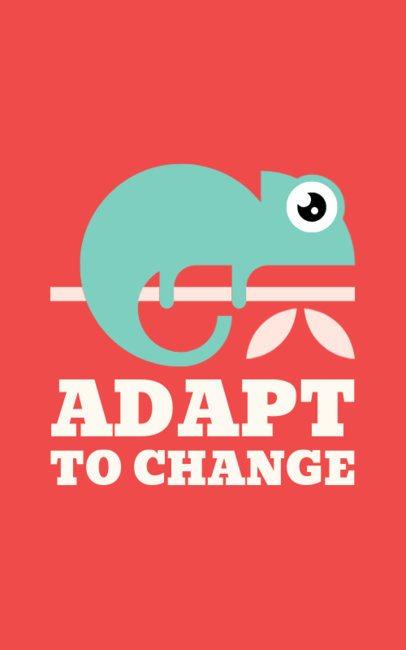 Cool T-Shirt Design Maker Featuring a Chameleon Illustration 1152o 6-el