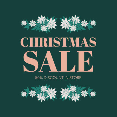 Social Media Post Maker for a Christmas Sale 626f