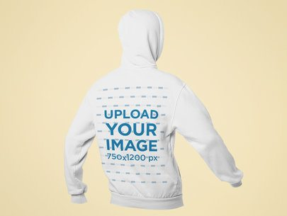 Mockup Featuring the Back of a Hoodie and a Customizable Background 29363