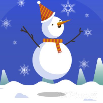 Xmas Instagram Video Maker with a Jumping Snowman 1934