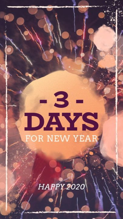 Instagram Story Template for a New Year Countdown 582p-1831