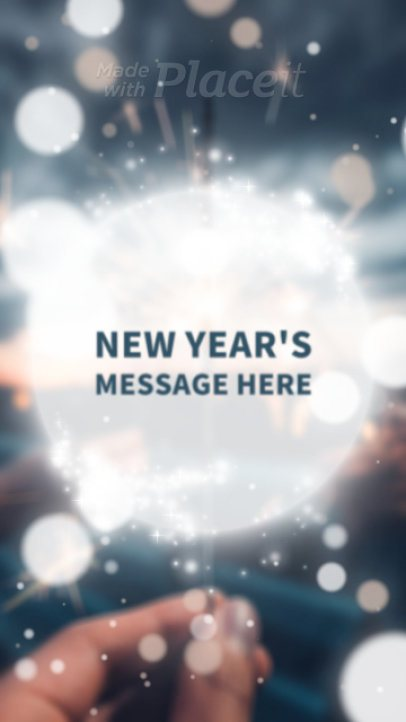 Instagram Story Maker with a Joyful New Year's Message 1969