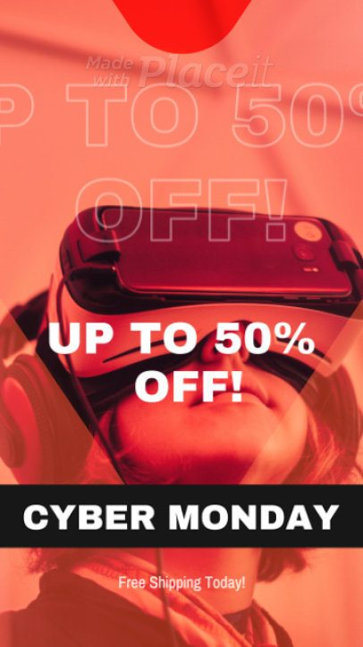 Instagram Story Template for a Cyber Monday Sale 1750a 23