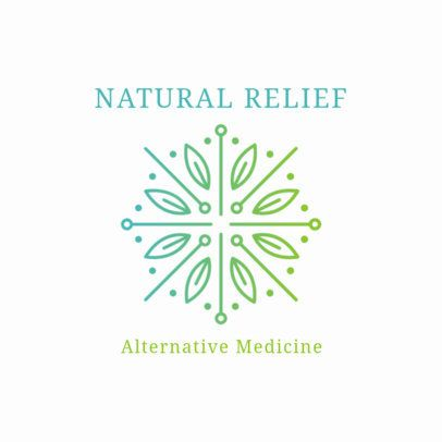 Alternative Medicine Logo Template for Natural Relief Products 2578d