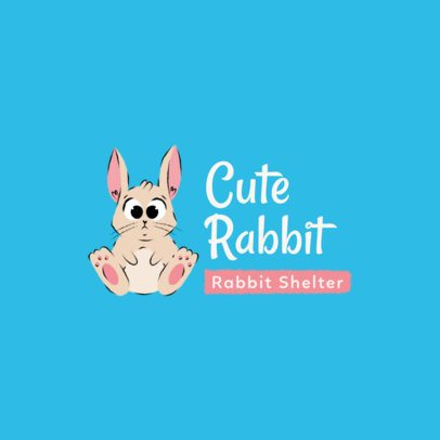 Animal Shelter Logo Maker with a Cute Bunny Clipart 2581a